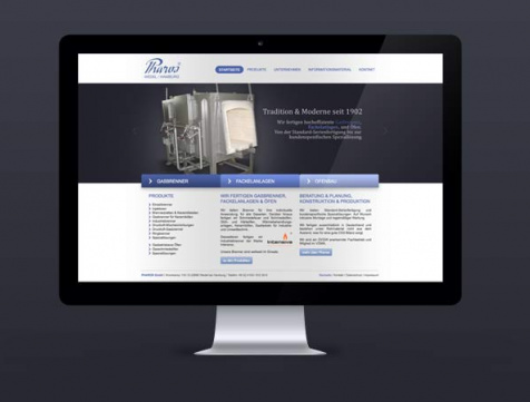 Webdesign Referenz Pharos GmbH