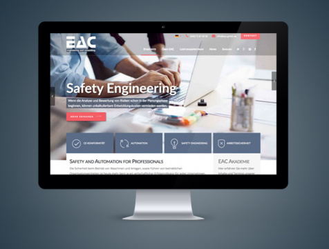 Webdesign Referenz EAC GmbH