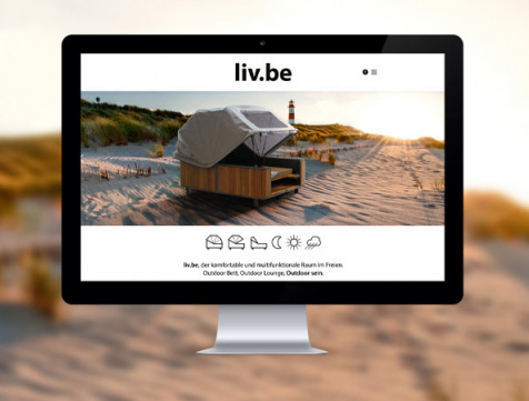 Webdesign Referenz Liv.be by Ploß